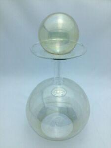 Bottiglia Tappo Vetro Soffiato Pirex Design Originale Artigianale Made in Italy