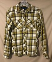 Eastern Mountain Sports Flannel Shirt - Women Small - Plaid, Pockets - Sharp!