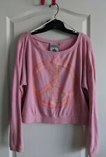 Victoria Secret Pink Peace sign oversized cropped sweatshirt size small