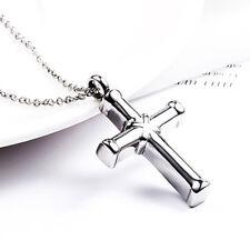 Hot* Stainless Steel Cross Ashes Pendant Ash Necklace Memorial Urn Keepsake