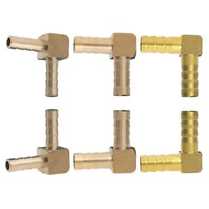 6mm/8mm/10mm Barb Brass Hose Fitting 90 Degree Elbow Pipe Connector Adapter 2Pcs