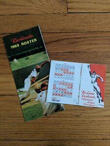 1969 St. Louis Cardinals Roster & Schedule Pamphlets