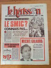 LE HERISSON n°1871 - 1982 - Smic? Connais pas - Michel Galabru