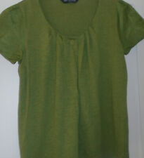 Autograph Weekend M&S Marks & Spencer Pleat Front Top green cotton Size 12 New
