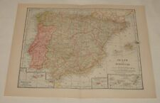 1918 map ~ SPAIN AND PORTUGAL