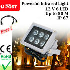 12V 6 LED Red IR illuminator infrared lamp Light Night Vision for CCTV Camera AU
