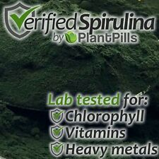 250 grams PlantPills 100% Spirulina Powder Independently Verified High Quality