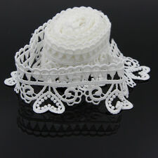 3Yds Lace Edge Trims Vintage Style Love Heart Ribbon Applique DIY Sewing Crafts