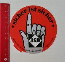 Autocollant/sticker: ASD systèmes d'alarme-est sûr sûr (21021794)