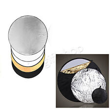 110cm 5 in 1 Photo Multi Reflector Panel Bag Photography Collapsible Disc Light