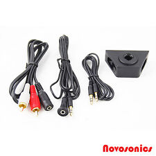 Dash Mountable Aux Input Adapter 3.5MM to RCA Adapter Included Wall Mount Car Au