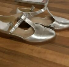 Silver flat mary Jane style by clarks shoes 4