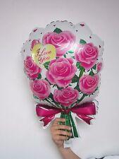 1 x fleurs roses Ballon plat fête DÉCORATION DE MAISON CADEAU MARIAGE ROSE