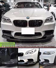 3D Style Carbon Fiber Front Bumper Lip Spoiler For 12-16 BMW F10 M5 Only