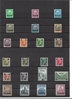 Luxemburg 1940/41, Einzelmarken aus Michelnrn: 1 - 41 **, postfrisch zur Auswahl