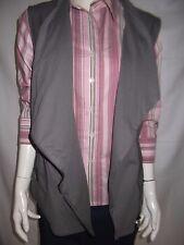 ROCKMANS Womens Grey Leatherette vest size 14