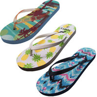 Norty Women's Graphic Print Flip Flop Thong Sandal for Beach, Pool or Everyday