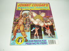 """Rare Vintage """"Johnny Cougar"""" Wrestling Monthly Magazine. Issue No 1. October 92"""