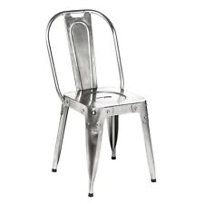 Premier Housewares Home Furniture Living Room Antique Nickel Aviator Seat Chair