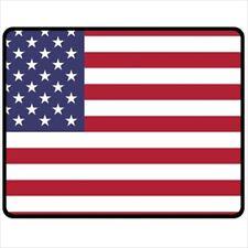 American Flag Medium Polar Fleece Throw Blanket AFBM1