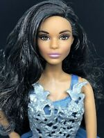 2016 Holiday Barbie Doll African American Model Muse Christmas for OOAK Repaint