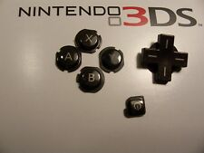 Orignal Nintendo 3ds Game system Black Set Of Buttons Replacement  Repair part
