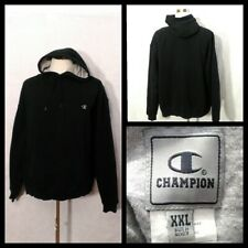 Champion Sweatshirt Men's XXL Black Pullover w/Drawstring Hood Inv#Z1856