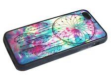 ►► Coque HYBRIDE (contour Silicone) IPHONE 4-5-5C-6-6+ Dreamcatcher indien plume