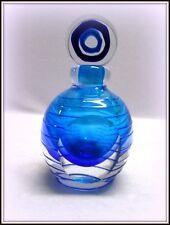 2004 FIFTH AVENUE LTD CRYSTAL HANDMADE COBALT BLUE ART GLASS PERFUME BOTTLE