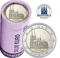 Kölner Dom 25 x 2 Euro Deutschland 2011 bankfrisch in original Rolle Mzz A