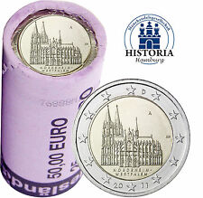 Kölner Dom 25 x 2 Euro Deutschland 2011 bankfrisch in original Rolle Mzz. A