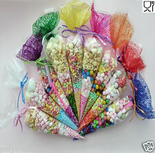 Party Bags Clear cone Coloured bags cello cellophane sweet candy display kids