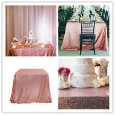 50'' x 80'' Sequin Tablecloth Blush  Sequin Overlay For Wedding Sweethear Table