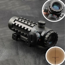 Adjustable 4x28EG Multi-coated Lens Reticle Scope Sight For Rifle Picatinny Rail