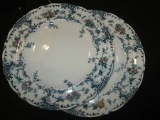 WEDGWOOD BRITISH PORCELAIN   PAIR OF DINNER PLATES  IN AVONMORE   1895 /1905