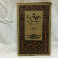 Vintage Book Official Rules of Card Games by U.S. Playing Card Co.