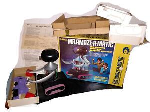 1970 HASBRO MR. AMAZE-A-MATIC PROGRAMMABLE ROBOT BATTERY OPERATED *SUPER RARE*