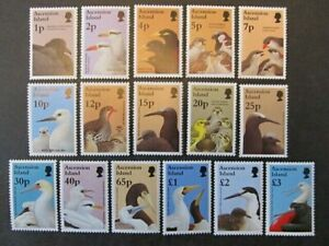 ASCENSION ISLAND, SC# 640-655, BIRDS SET (1996) MINT