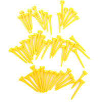 50x Yellow Plastic Golf Tees 60mm for Golfer Driver Training Aid Tool Gift
