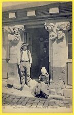 cpa Bretagne 29 - QUIMPER (Finistère) VIEILLE MAISON Rue du GUÉODET Sculptures