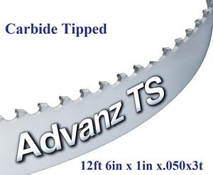 "1//2/"" X 12-14-16mm Vari Tooth Pitch X 93/"" Resaw King Carbide Bandsaw Blade"