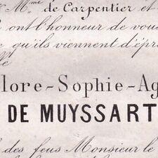 Flore Sophie Aglaë Josèphe De Muyssart Lille 1871