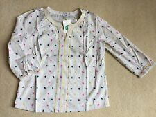 BNIP Boden Ladies Ivory Embroidered Blouse/Top - Size 10
