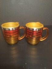 Set Of Gulfstream  Jet Ceramic Coffee Mug Cup Prism  20 Oz Aircraft Large