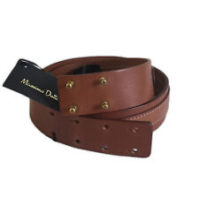 NWT MASSIMO DUTTI BROWN LEATHER BELT - SIZE 75