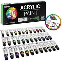Professional 36 Color Art Acrylic Paint Set, 18ml Tubes, Artist Student Painting