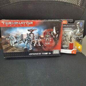 Mega Bloks Terminator sets #CNG02&GCL95 HEROS T-800 FIGURE BUNDLE OF 2 BOXES