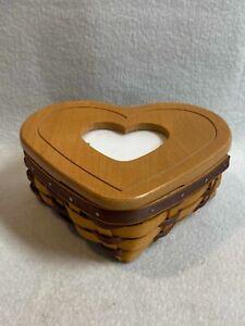 Longaberger (2001) Little Love Heart Basket with Photo Lid