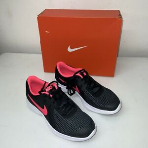 SALE Nike Wmns Running Trainers Nike Revolution 4 GS Flex Gym Fitness Size UK4