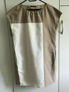 FABIANA FILIPPI Kleid Gr. 40 (Italienisch 46) Hellbraun / Wollweiß